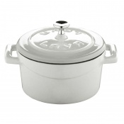 Folk Mini Casseruola Tonda Lt 0,35 In Ghisa Smaltata Bianco