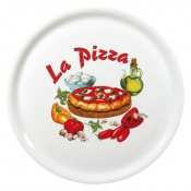 Napoli Piatto Pizza Decorato Cm 31