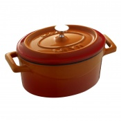 Maperno Mini Ovens Oval Saucepot Cast Iron Lt 0,42 Cm 12x9 Orange