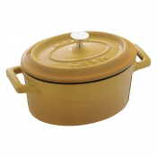Maperno Mini Ovens Oval Saucepot Cast Iron Lt 0,42 Cm 12x9 Yellow