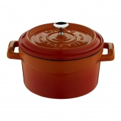 Trendy Mini Casseruola Tonda Lt 0,55 In Ghisa Smaltata Arancio
