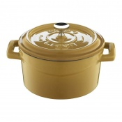 Trendy Mini Casseruola Tonda Lt 0,55 In Ghisa Smaltata Giallo