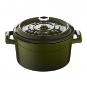 Trendy Mini Casseruola Tonda Lt 0,55 In Ghisa Smaltata Verde